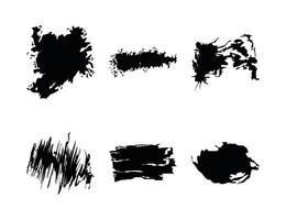 Set ink stains vector