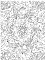 Artistic decorative mandala background coloring book vector