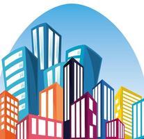 downtown urban cityscape vector