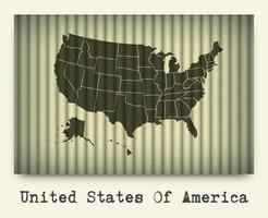 Vector of america map on cardboard