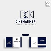 sand timer cinema entertainment simple logo template vector illustration icon element isolated vector file
