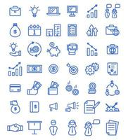 Business icon pack vector