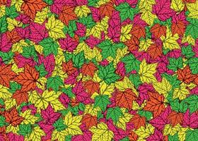 Autumn Maple Leaves Falling Background vector