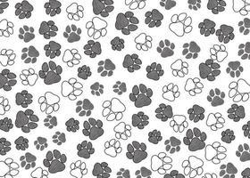 Animals Paw Print Pattern Free Vector