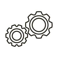gears machine line style icon vector