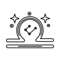 libra signo del zodíaco símbolo icono de estilo de línea vector