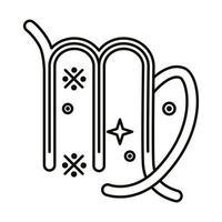 icono de estilo de línea de símbolo de signo del zodíaco virgo vector
