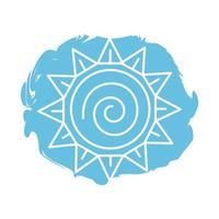 icono de estilo de bloque de símbolo del zodíaco del sol vector