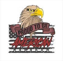 american eagle head veteran illustration vector