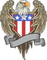 american shield eagle vector