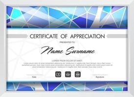 Certificate of appreciation template vector