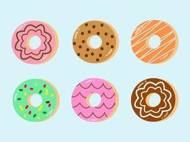 Donuts With Topping Vector