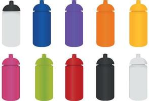 Sports bottle mockup collection vector