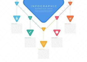 Infographic modern triangle shape hang top design use for business vector
