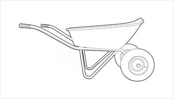 wheelbarrow for summer cottages and cargo transportation vector
