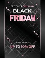 black friday promotion advertizing banner or poster vector