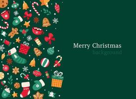 Merry Christmas elements background vector
