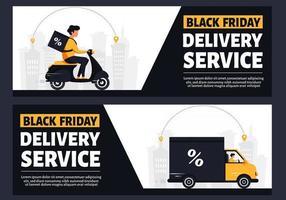 Black friday delivery service vector