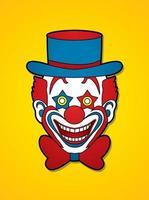 Clown Head Smile Face vector