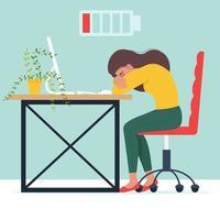 Professional burnout concept vector