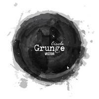 Grunge circle watercolor painting design  Vector