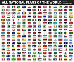 All official national flags of the world  Formal design  Vector