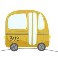 Compact bus for transporting people vector