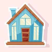 Big house sticker vector
