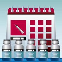horario mundial de vacunación vacunación protección contra covid 19 vector