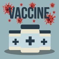 vaccine covid 19 coronavirus medicine packages vector