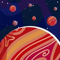 space planets and asteroids rocks galaxy astronomy vector