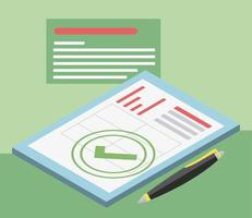 tax approved isometric vector