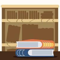 books bookshelf library vector