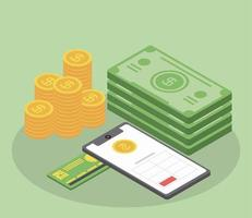 tax smartphone money vector