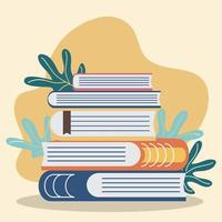 stack of book vector