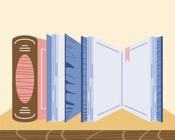 books bookshelf bookmark vector