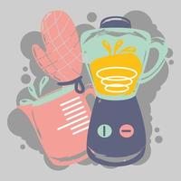 jarra de licuadora de cocina vector
