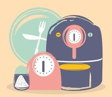cooking pot salt vector