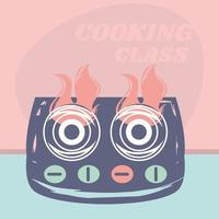 cooking class stove vector
