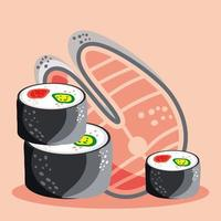 food sushi fish vector