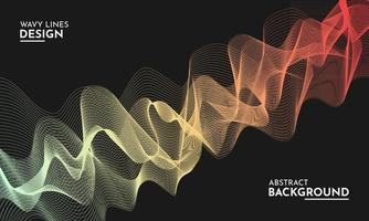 Abstract colorful wavy lines background design vector