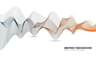 Modern Abstract Wavy Lines Background Design vector