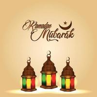 festival islámico ramadan kareem celebración tarjeta de felicitación vector
