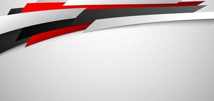 Abstract corporate banner web design red and white geometric diagonal on white background vector