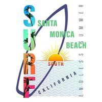 California Surf lettering print Shirt vector