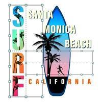 California Surf Print Shirt vector