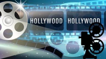 Hollywood Film Realistic Background vector