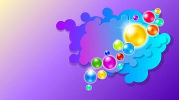 colorful glass balls 3d background vector