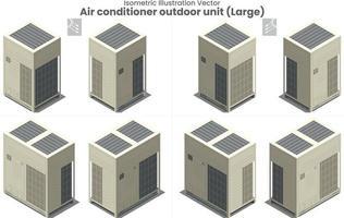 vector isométrico gran aire acondicionado vrf tipo 1