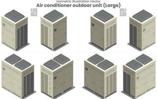 vector isométrico gran aire acondicionado vrf type2
